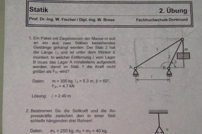 Technische mechanik 1 statik starrer k rper ebenes for Zentrales kraftesystem